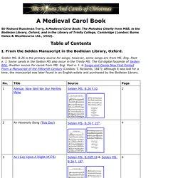 A Medieval Carol Book