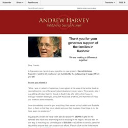 A Message from Andrew Harvey