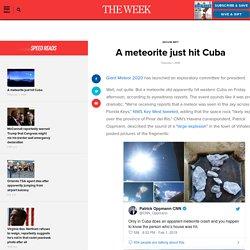 2/1: Meteorite hits Cuba