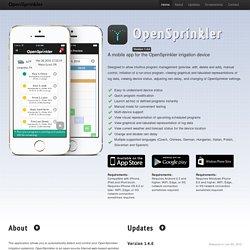 A mobile app for OpenSprinkler