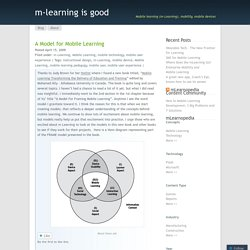 A Model for Mobile Learning