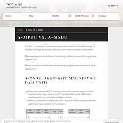 A-MPDU vs. A-MSDU – Dot11AP