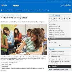 A multi-level writing class