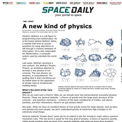 A new kind of physics