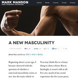 A New Masculinity