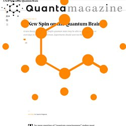 A New Spin on the Quantum Brain
