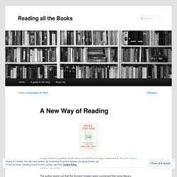 A New Way of Reading