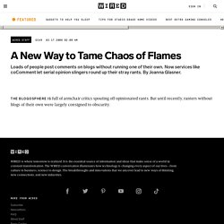 News: A New Way to Tame Chaos of Flames