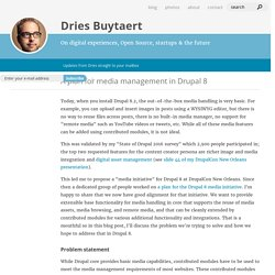 A plan for media management in Drupal 8