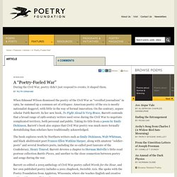 "A ""Poetry-Fueled War"" - Poetry Foundation"