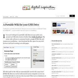 A Portable Wiki for your USB Drive
