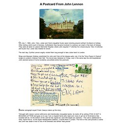A Postcard From John Lennon
