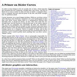 A Primer on Bézier Curves