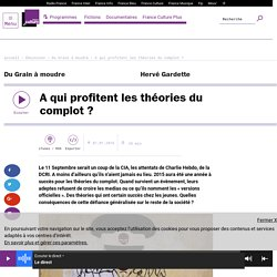 A qui profitent les théories du complot ? (émission France Culture)