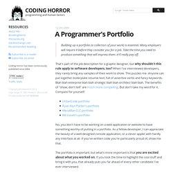 A Programmer's Portfolio