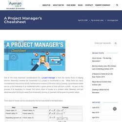 A Project Manager's Cheatsheet