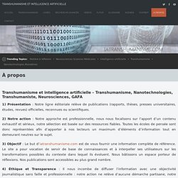 À propos Transhumanisme et Intelligence Artificielle