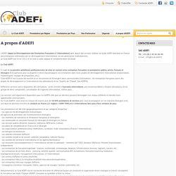 A propos du Club ADEFI