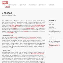 A PROPOS – Commune Image