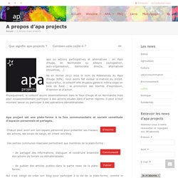 A propos d'apa projects