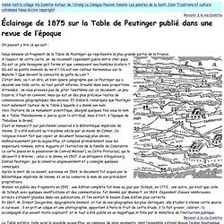 A propos de la Table de Peutinger