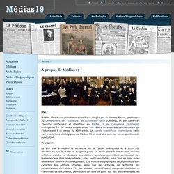 À propos de Médias 19