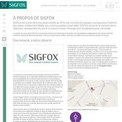 A propos de SIGFOX