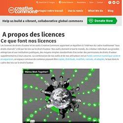 CreativeCommons - A propos des licences