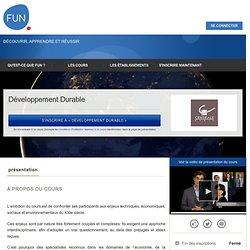 MOOC : développement durable