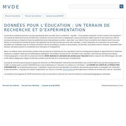 Portail Données pour l'éducation - projet MVDE