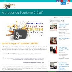 À propos du Tourisme Créatif