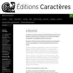 Éditions Caractères
