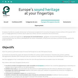 A propos d'Europeana Sounds