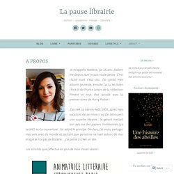 A PROPOS – La pause librairie