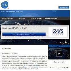 Monter un MOOC de A à Z »
