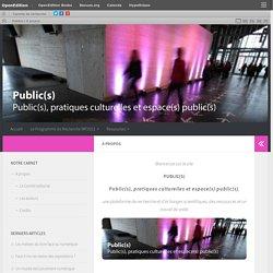 A propos – Publics