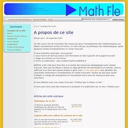A propos de ce site - MathFle