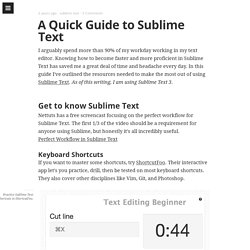 A Quick Guide to Sublime Text