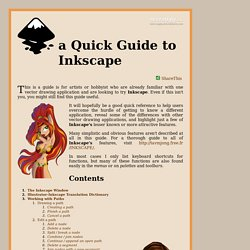 a Quick Guide to Inkscape