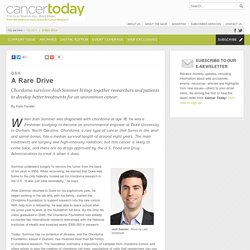 A Rare Drive - Cancer Today
