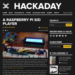 A Raspberry Pi SID Player