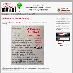 A Recipe for Math Learning