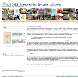 A.N.D.E.S. le réseau des épiceries solidaires