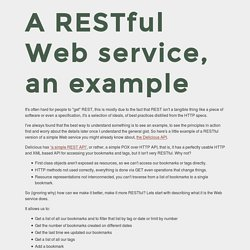 A RESTful Web service, an example