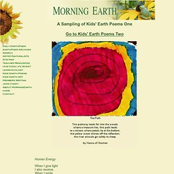 A Sampling of Kids' Earth Poems 1