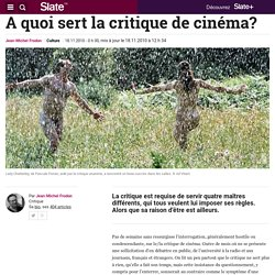 A quoi sert la critique de cinéma?