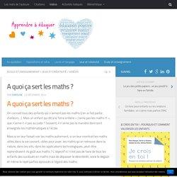 A quoi ça sert les maths ?