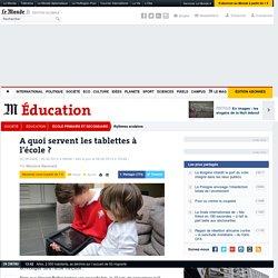 A quoi servent les tablettes à l'école ?