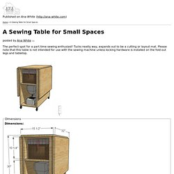 A Sewing Table for Small Spaces