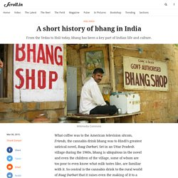 A short history of bhang in India